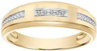 Lovemark 10k Gold Certified Diamond Accent His & Hers Wedding Ring Set