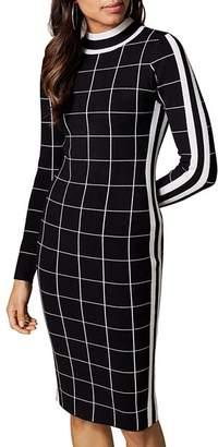 Karen Millen Windowpane Body-Con Dress