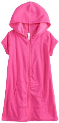 So Girls 4-6x SO Hooded Swimsuit Cover-Up