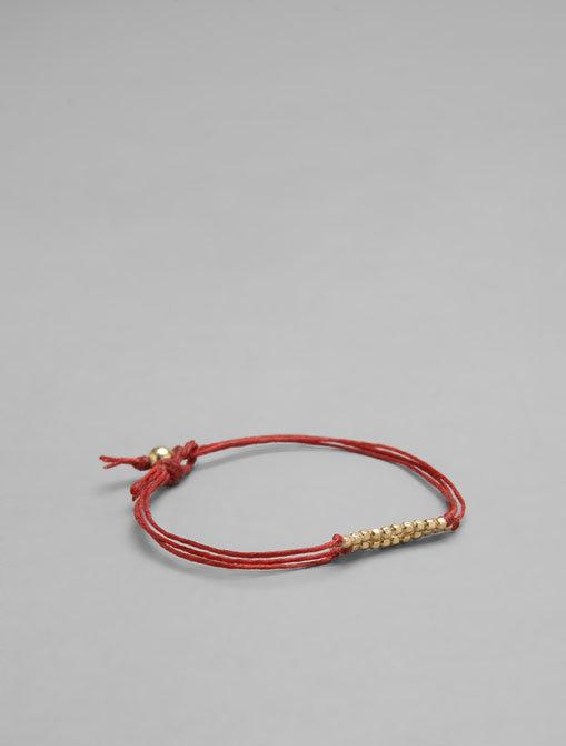 Dogeared Irish Linen Triple Bead Bracelet w/ Bead Closure