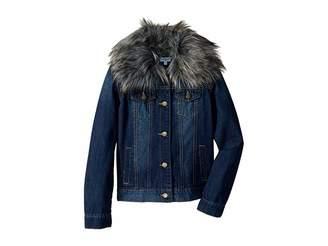 Splendid Littles Denim Jacket with Faux Fur Collar (Big Kids)