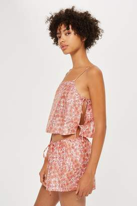 Topshop Key To Freedom Floral Pyjama Cami Top
