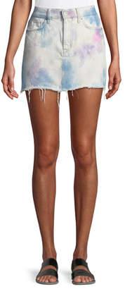 Hudson Vivid Bleached Viper Denim Mini Skirt