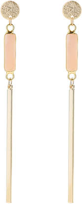 Panacea Pannee By Gold-Tone Stick & Agate Earrings