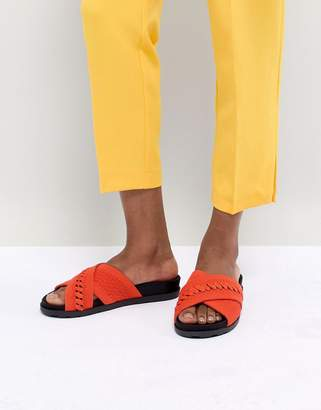 Call it SPRING Nydeladda Red Flatform Sliders