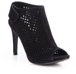 Sofia Perforated Suede Open-Toe Booties $510 thestylecure.com