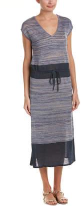 Joan Vass Linen-Blend Midi Dress