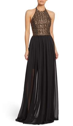 Dress the Population Farah Halter Gown