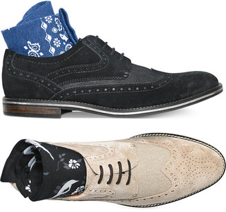 Bar III Men's Axel Suede Wingtip Oxfords, Only at Macy's $99.99 thestylecure.com