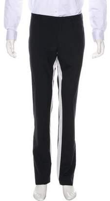 Prada Striped-Accented Virgin Wool Pants