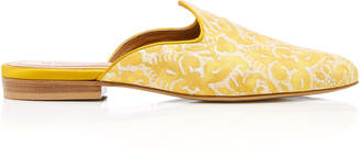 Cabana x Le Monde Beryl in collaboration with Fortuny Fabrics M'O Exclusive Delfino Fortuny Mules