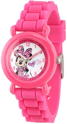Disney Minnie Mouse Girl's Pink Plastic Watch