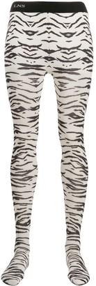Laneus zebra-print tights