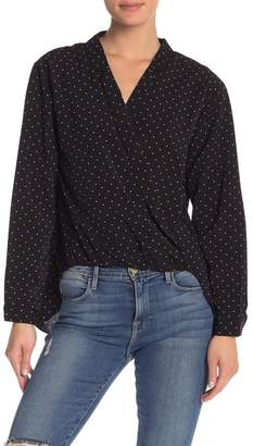 FAVLUX Polkadot Long Sleeve Hi-Lo Blouse