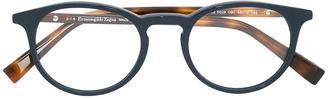 Ermenegildo Zegna round frame glasses $182.55 thestylecure.com