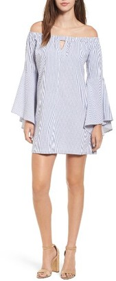 Women's Mimi Chica Bell Sleeve Off The Shoulder Dress $49 thestylecure.com