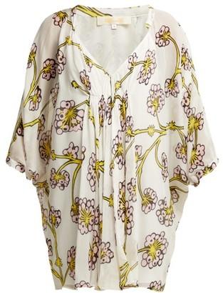 Diane von Furstenberg Fleurette Dragon Berry Printed Silk Dress - Womens - Yellow Print