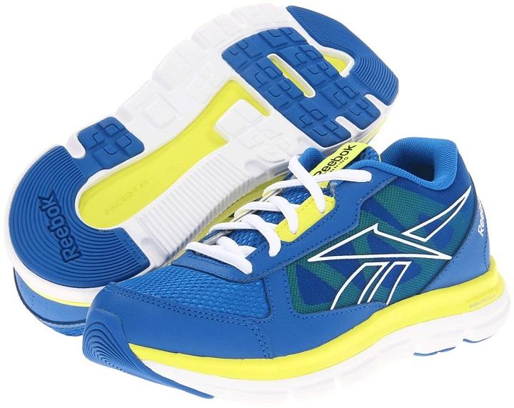 Reebok Kids Dual Turbo (Little Kid) (Blue Sport/Solar Green/White) - Footwear