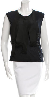 Paul Smith Sleeveless Fringe Ribbon Top $65 thestylecure.com