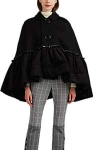 Women's Ruffle-Trimmed Jersey Cape - Black
