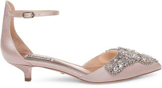 Badgley Mischka Fiana Satin Kitten Heel Pumps
