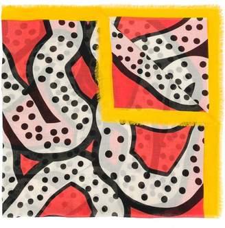 Henrik Vibskov Rhizo abstract print scarf