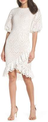 Jarlo Anika Eyelet Cocktail Dress
