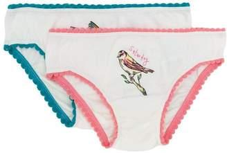Stella McCartney weekend bird print knicker set