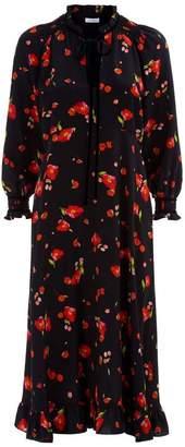 Vilshenko Mona Floral Midi Dress