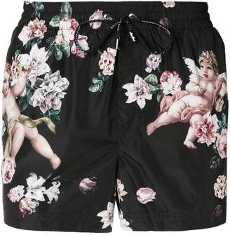 Dolce & Gabbana floral print swimming shorts