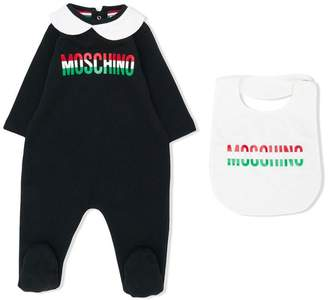 Moschino Kids logo printed pajama set
