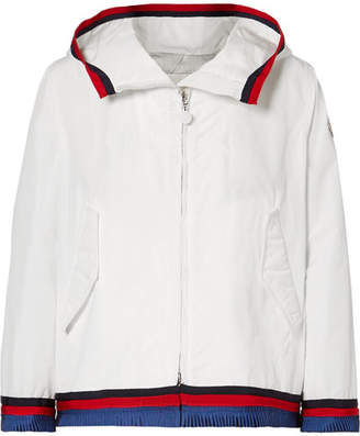 Moncler Twist Hooded Grosgrain-trimmed Shell Jacket
