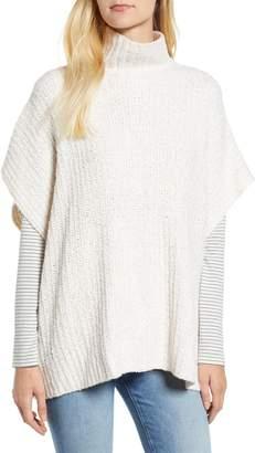 Lou & Grey Ribbed Poncho Sweater