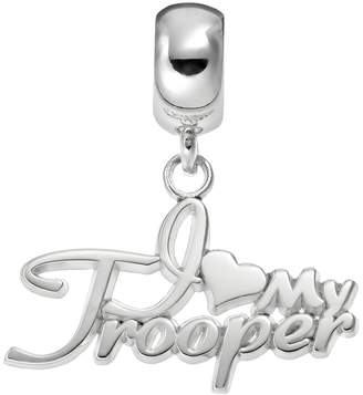 """Insignia Collection Sterling Silver """"I Love My Trooper"""" Charm"""