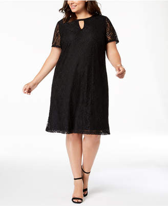 ECI Plus Size Lace Shift Dress