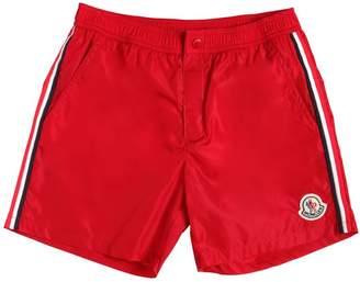 Moncler Nylon Swim Shorts With Side Bands