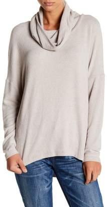Susina Long Sleeve Cowl Neck Sweatshirt