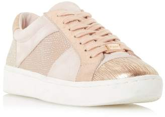 Dune Pink 'Egypt' Contrast Panel Lace Up Trainers