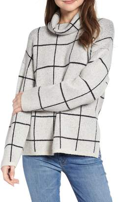 Madewell Windowpane Turtleneck Sweater
