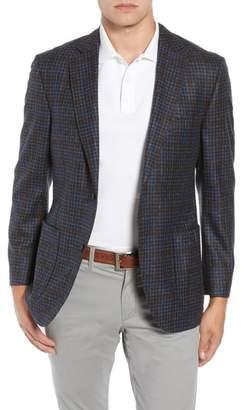Kroon Bono 2 Classic Fit Check Wool & Cashmere Sport Coat