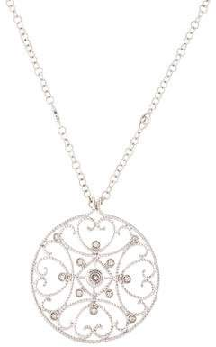 Charriol 18K Diamond Circle Filigree Pendant Necklace