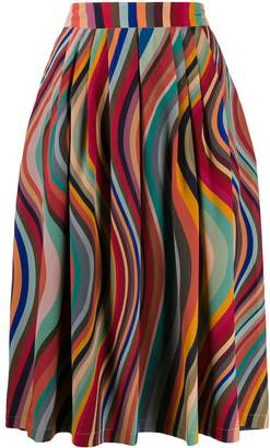 Paul Smith pleated wave pattern skirt