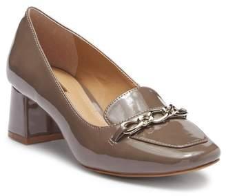 Tahari Mason Patent Leather Block Heel Loafer