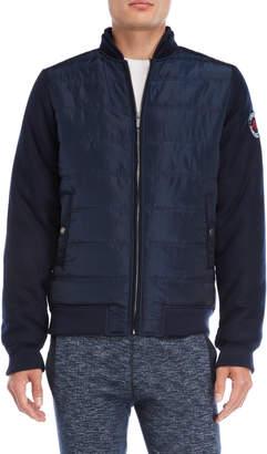 Fresh Brand Contrast Sleeve Zip Jacket