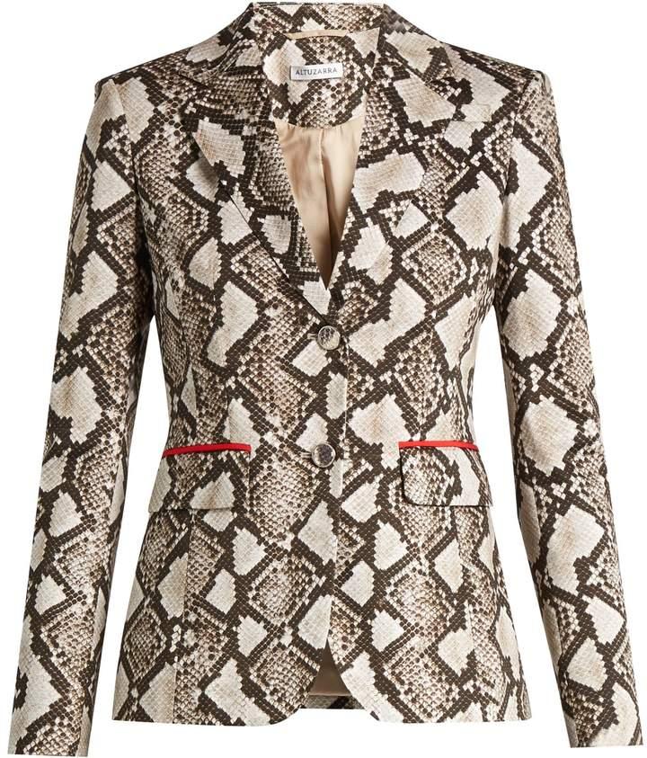 AltuzarraALTUZARRA Fenice python-print cotton-blend blazer