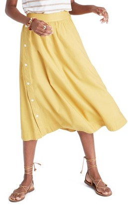 Women's Madewell Side Button Midi Skirt $98 thestylecure.com