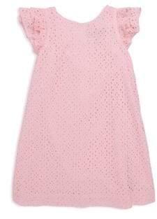 Ralph Lauren Little Girl's& Girl's Eyelet Cotton Dress