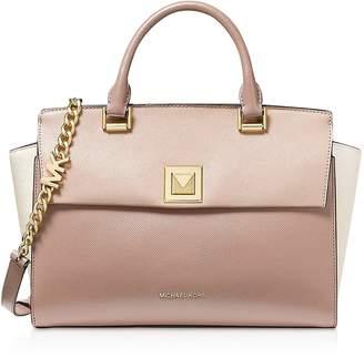 Michael Kors Sylvia Medium Top-Zip Satchel Bag