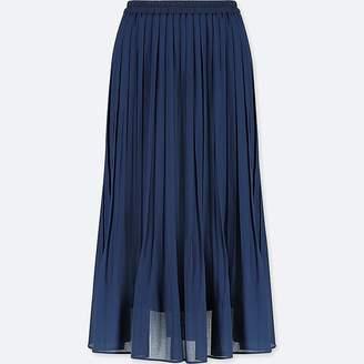 Uniqlo Women's High-waist Chiffon Pleated Skirt