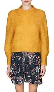 Isabel Marant Women's Ivah Wool-Blend Crop Sweater-Yellow
